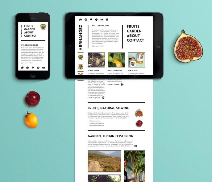 Entwurf Webseite für Tablets und Smartphones