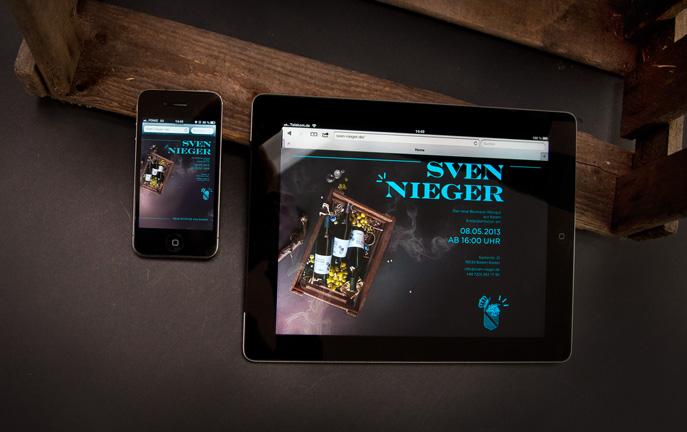 Visitenkarte für iPad, iPhone und PC als Platzhalter für die Webseite