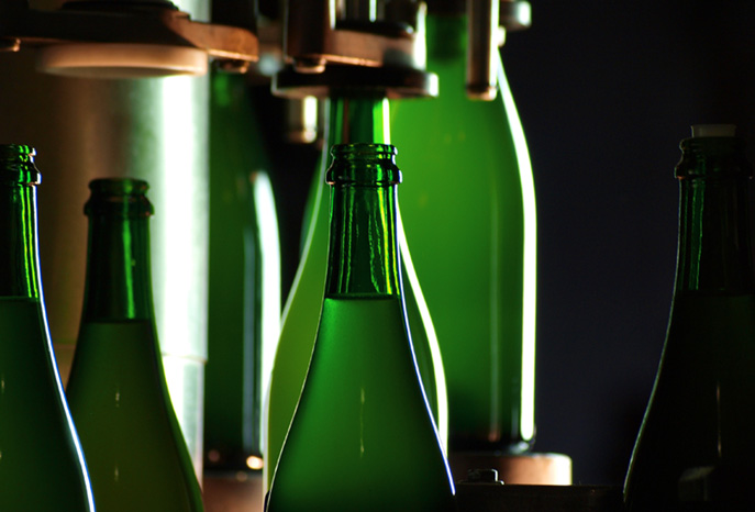 Weinbefüllung in der Pfalz