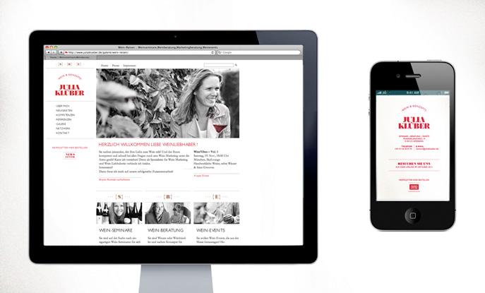 Webseite und Web-Visitenkarte