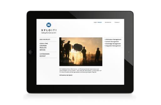 """Webseite """"Home"""" auf iPad"""